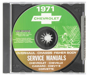 1971 El Camino CD-ROM Factory Shop Manuals