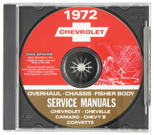 1972 Chevelle CD-ROM Factory Shop Manuals