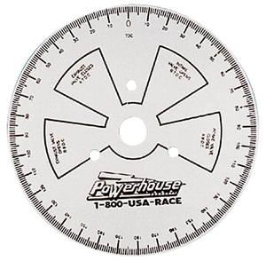 1959-77 Bonneville Degree Wheel, 9""