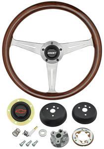 1964-65 El Camino Steering Wheel, Mahogany Red Bowtie 3-Spoke, by Grant