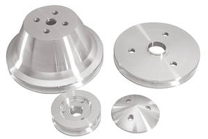 1964-68 Chevelle V-Belt Pulley Set, Short Water Pump Small-Block, by March Performance