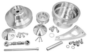 1969-1977 Chevelle Serpentine Conversion Set, Long Water Pump Small-Block Performance (Increases Horsepower) w/Press-Fit, by March Performance