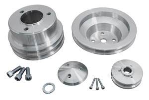 1978-88 Monte Carlo V-Belt Pulley Sets, Long Water Pump Big-Block, by March Performance