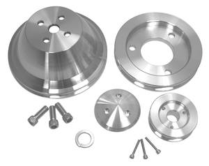 1964-1968 Chevelle V-Belt Pulley Set, Short Water Pump Big-Block, by March Performance