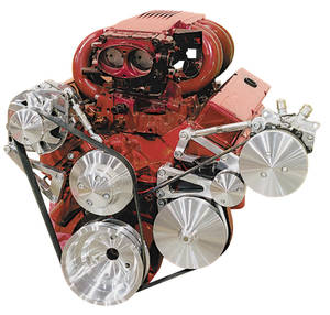 1969-77 El Camino Serpentine Conversion Set, Long Water Pump Big-Block High Water Flow (Increases Cooling) w/AC, w/Keyway