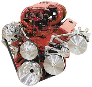1964-1977 El Camino Serpentine Conversion Set, Short Water Pump Big-Block Performance (Increases Horsepower) w/Electric Water Pump, by March Performance