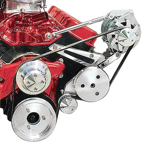 1964-77 Chevelle Serpentine Conversion Set, Short Water Pump Big-Block High Water Flow (Increases Cooling), by March Performance