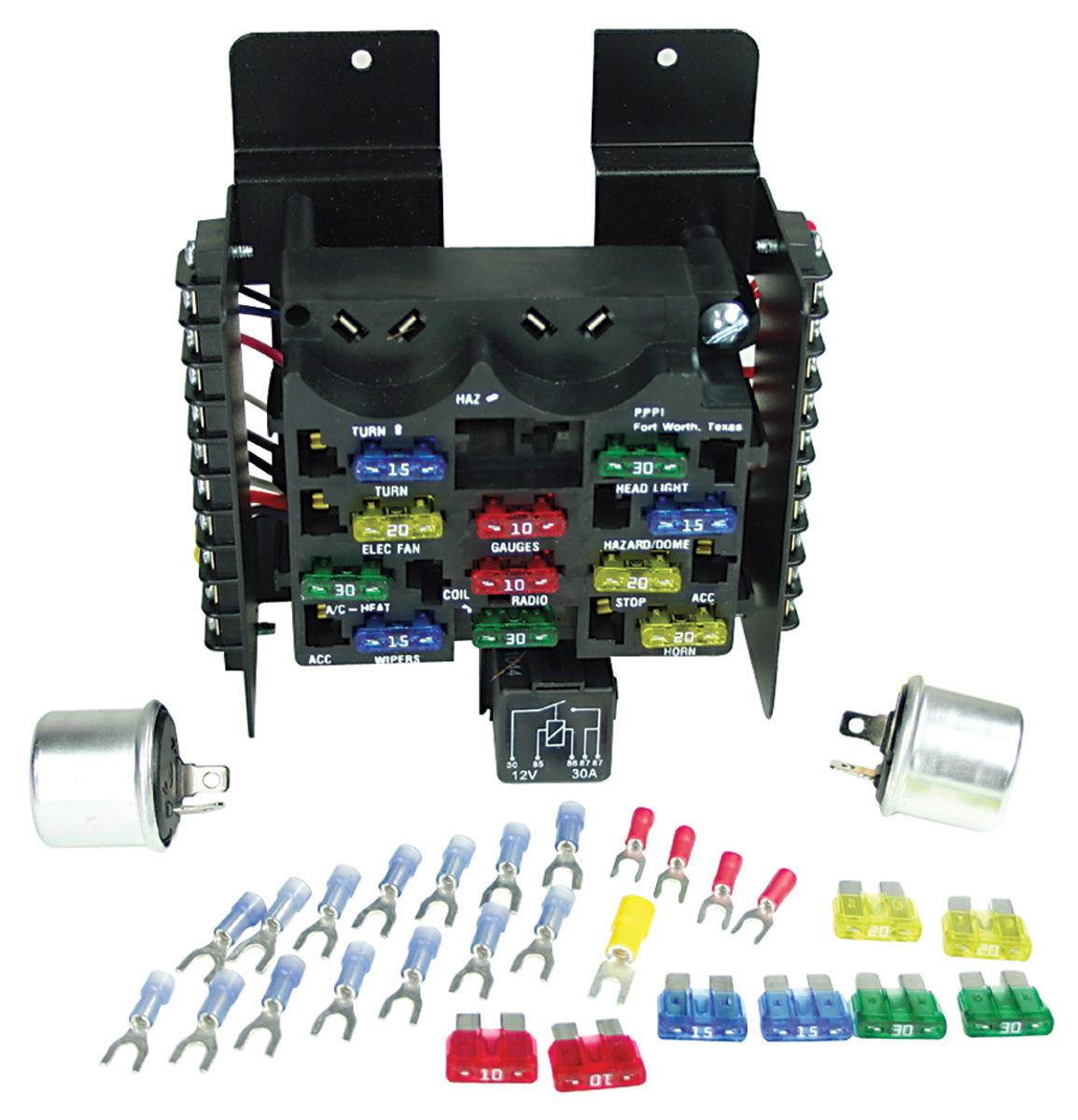 Painless Performance Circuit Fuse Block 14 Circuit @ Opgi Com