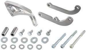 1978-1988 El Camino Steering Brackets (Power) Front Mount Bracket/Long Water Pump, by March Performance