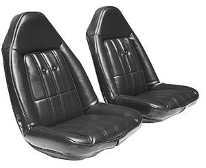 Seat Upholstery, 1974-77 Chevelle Bucket Vinyl w/Coupe Rear