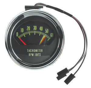Chevelle Tachometer, 1966 Original Style 6000 Rpm w/5200 Redline (325hp)