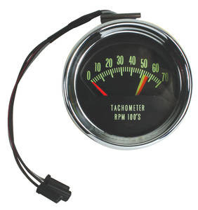 1966-1966 El Camino Tachometer, Original Style 7000 Rpm w/5600 Redline