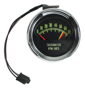 Chevelle Tachometer, 1966 Original Style 7000 Rpm w/6200 Redline (375hp)