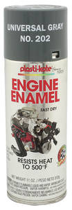 Engine Enamel Paint, 500-Degree Gray, 11-oz.