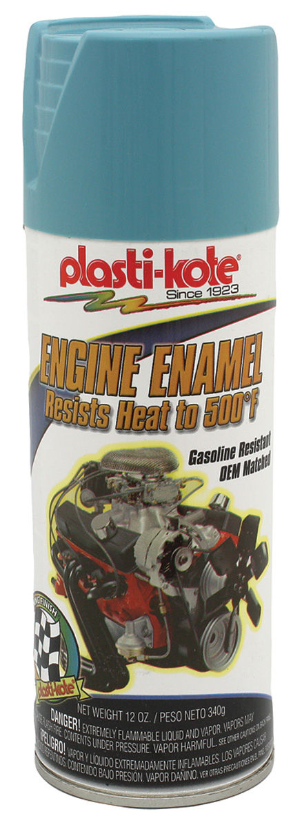 Photo of Bonneville Engine Enamel Paint, 500-Degree Pontiac blue, 12-oz.
