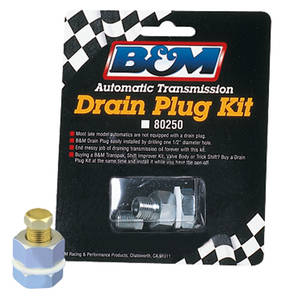 1964-73 LeMans Drain Plug Kit, Universal, by B&M
