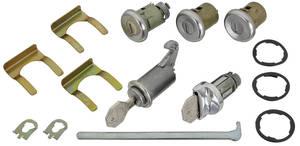 1964-1964 Chevelle Ignition, Doors, Glove Box & Trunk Lock Set Octagon Keys
