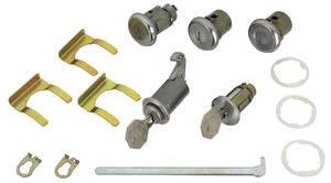 1965 Chevelle Ignition, Doors, Glove Box & Trunk Lock Set Octagon Keys