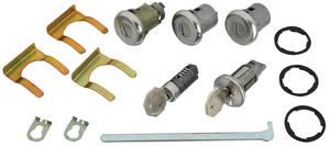 1967-1967 Chevelle Ignition, Doors, Glove Box & Trunk Lock Set Octagon Keys
