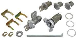 1969 Chevelle Ignition, Doors, Glove Box & Trunk Lock Set Square Keys