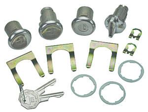 1967-1967 Chevelle Ignition, Door & Trunk Lock Set Octagon Keys