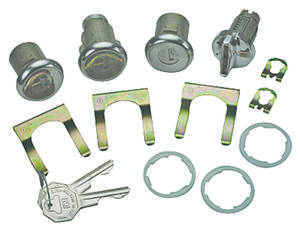 1967 Chevelle Ignition, Door & Trunk Lock Set Octagon Keys