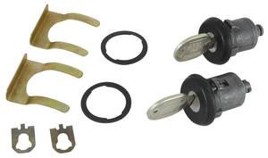 1978-1988 Monte Carlo Door Lock Monte Carlo, Round Keys (Black)