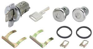1979-81 Lock Set; Door & Ignition Malibu, Square Keys