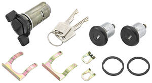 1985-88 Lock Set; Door & Ignition Monte Carlo, Square Keys