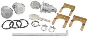 1969-1970 Bonneville Lock Set: Door & Trunk Bonneville/Catalina, Round Keys
