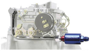 Carburetor Fuel Line & Filter Kit (Performer Series) Blue/Red Filter, by Edelbrock