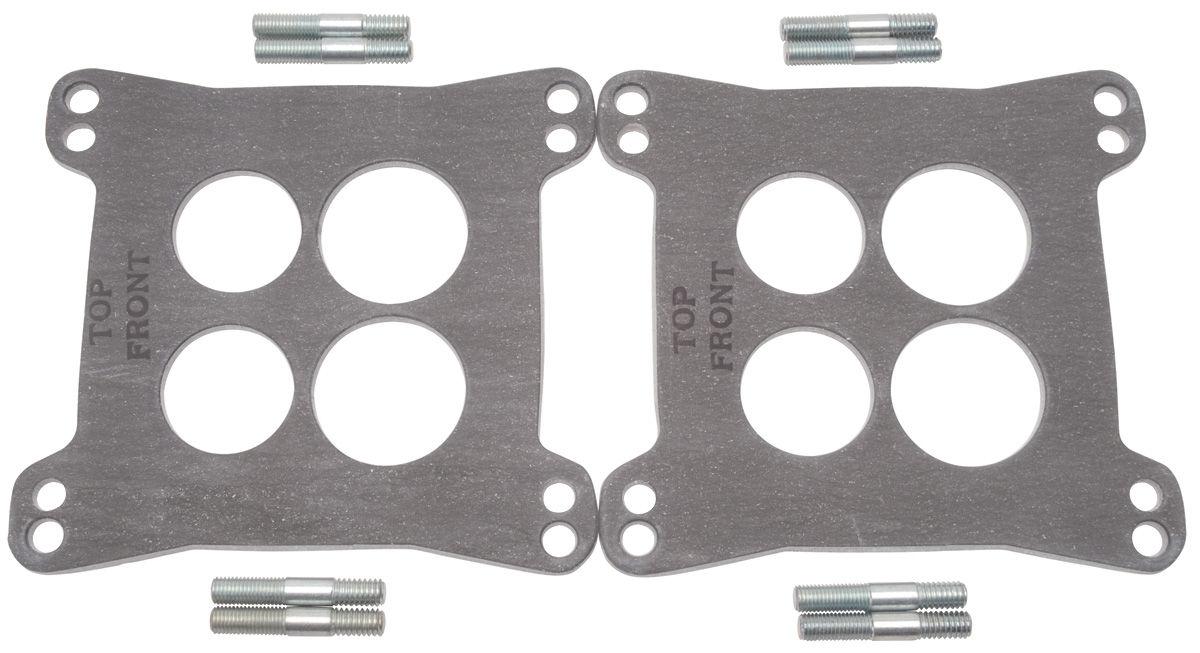 "Photo of Carburetor Heat Insulator Gasket For Square-Bore dual-quad (.125"" thick, 2 pieces)"