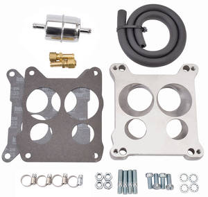 1964-1973 LeMans Quadrajet Adapter & Fuel Line Kit, by Edelbrock