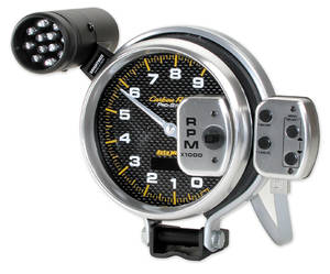 1964-73 GTO Tachometers, Carbon Fiber Pro-Stock 9,000 Rpm