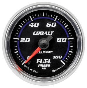 1964-73 Tempest Gauges, Cobalt Fuel Pressure (0-100 Psi)