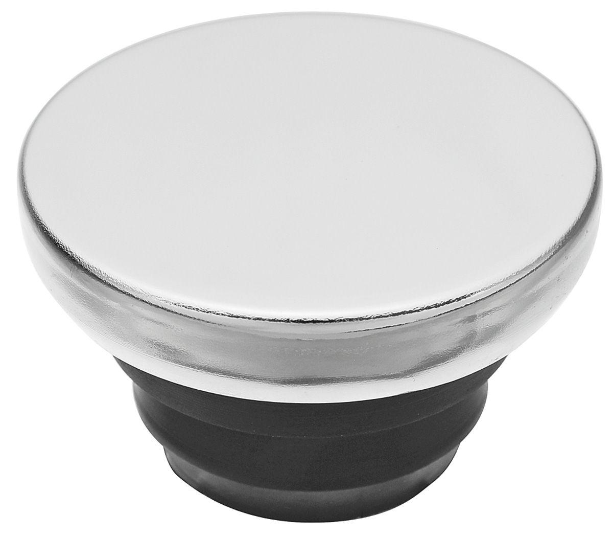 "Photo of Oil Filler Hole Cap - Chrome (Push-In) 1-1/4"" Hole"