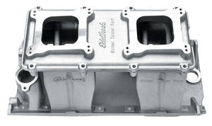 1964-1977 Chevelle Manifold, Big-Block Street Tunnel Ram 2-0 Satin, by Edelbrock