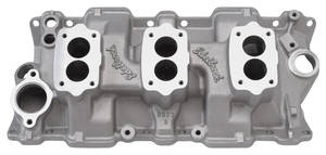 1964-1977 Chevelle Intake Manifold, C-357 Three-Deuce, by Edelbrock