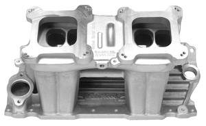 1964-1977 Chevelle Manifolds, Street Tunnel Ram (Small-Block) (Satin), by Edelbrock