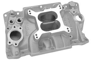 1985-88 Monte Carlo Manifold, Performer 90-Degree V6 Polished, Non-EGR, by Edelbrock