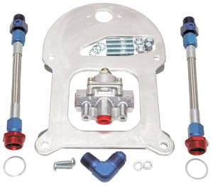 1978-1987 El Camino Fuel Pressure Regulator, Racing Single Regulator, Dual Outlet, Std Flange, by Edelbrock