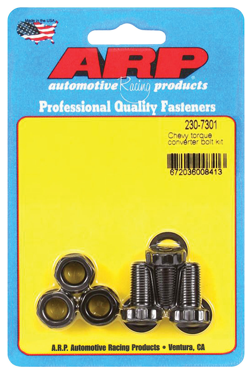 "Photo of Malibu Torque Converter Bolts 3/8""-24 production converter, .750"" UHL (3-piece)"