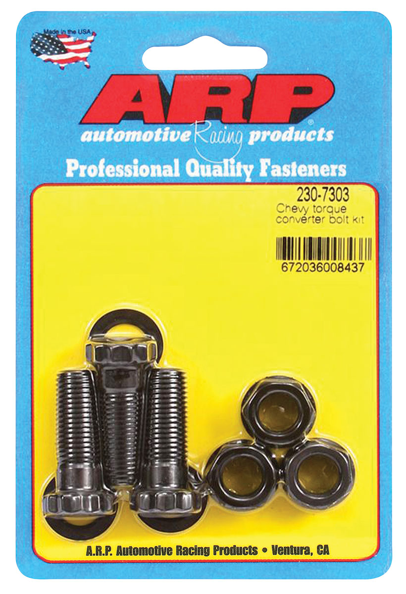 "Photo of Torque Converter Bolts 7/16""-20 race converter w/1/2"" tabs, 1.250"" UHL (3-piece)"
