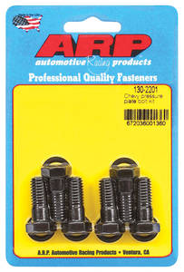 "1964-77 Chevelle Pressure Plate Bolts 9/16"" (6-Piece), Hex Head, Black, by ARP"