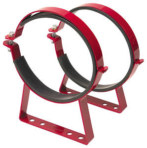 1978-88 Monte Carlo Nitrous Bottle Brackets (Powder Coated Red) Red Powder Coated
