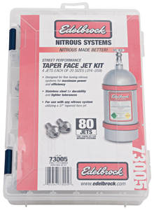 "1964-1973 GTO Nitrous Tuner Jet Kits Street (80 Jets, 4 Ea. of 20 Sizes From .014""-.059""), by Edelbrock"