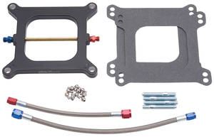Chevelle Nitrous Plate Kit, 1964-77 Standard Flang Square-Bore Carburetor 100-250 HP, by Edelbrock