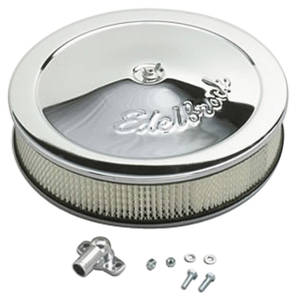"1964-1977 Chevelle Air Cleaner, Pro-Flo Chrome 14"" X 3-3/4"", w/3/8"" Deeper Flange, by Edelbrock"