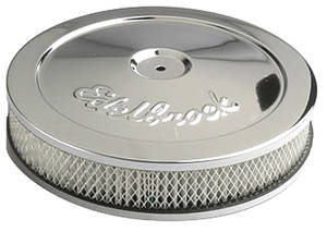 "1961-1977 Cutlass Air Cleaner, Pro-Flo Chrome 10"" X 3-1/2"", by Edelbrock"