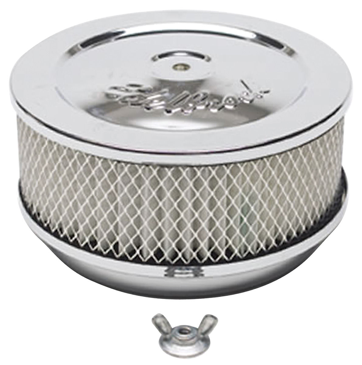 """Photo of Air Cleaner, Pro-Flo Chrome 6"""" x 3-5/8"""", w/5-1/8"""" base"""
